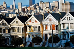 Detailed and colourful facades on San Francisco's Victorian houses brighten up the city. Photo / Supplied