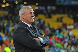 Coach Warren Gatland and the Wales team are focused on tonight. Photo / Getty Images