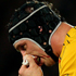 Lock Dan Vickerman of the Wallabies leaves the field with a blood injury. Photo / Getty Images