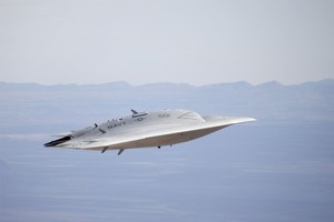 US Navy's X-47B is a jet-powered, autonomous stealth fighter drone. Photo / Supplied