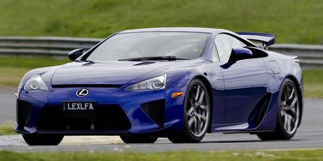 The Lexus LFA takes on Melbourne's Sandown circuit. Photo / Supplied