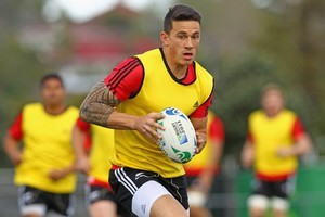 Sonny Bill Williams during an All Blacks training session. Photo / Getty Images