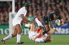 Aurelien Rougerie of France tackles Ma'a Nonu. Photo / Getty Images