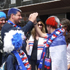 France supporters high-five on Quay St. Photo / Cassandra Mason