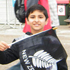 Young All Blacks fans get into the spirit at one of Auckland's fanzones. Photo / Deepak Bhakoo