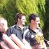 The All Blacks' parade continues along Hagley Park in Christchurch. Photo / Rita Mason
