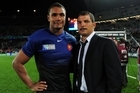 French captain Thierry Dusautoir beat nominees Jerome Kaino, Piri Weepu and second five-eighth Ma'a Nonu to be named IRB's player of the year.