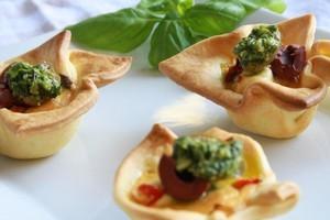 Antipasto tarts. Photo / Supplied