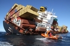 The ship Rena. Photo / Maritime New Zealand