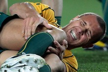 It wasn't ok to boo an injured Quade Cooper off the field. Photo / Brett Phibbs