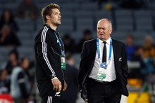 Richie McCaw with Graham Henry before the Rugby World Cup 2011 final. Photo / Dean Purcell