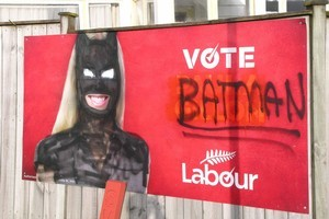 Looks like Labour has enlisted the help of a superhero to boost their luck in the upcoming election. Photo / Supplied