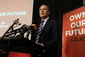Labour leader Phil Goff says he will do what is right for the country's future rather than what is easy. Photo / Mark Mitchell