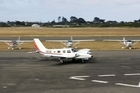 A plane taxis on the runway at Paraparaumu Airport, near Wellington. Photo / Tim Hales