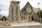 The Christchurch Cathedral which was badly damaged in Christchurch's  earthquake. Photo / Mark Mitchell