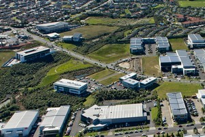 The site  in the Interplex Business Park in Mairangi Bay is on a prime corner location. Photo / Supplied