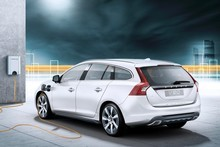 Volvo will start selling its V60 Plug-in hybrid diesel car next year in Europe. Photo / Supplied