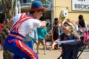 An entertainer at the Tauranga Arts Festival. Photo / Supplied
