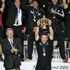 The All Blacks celebrate as Richie McCaw lifts the Webb Ellis Trophy. Photo / Richard Robinson