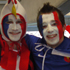 French fans get in the spirit at Eden Park. Photo / Troy Rawhiti-Forbes