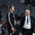 Graham Henry and captain Richie McCaw are seen prior to kick-off. Photo / Dean Purcell