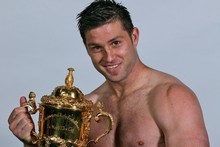 Cory Jane holds the William Webb Ellis Cup. Photo / Getty Images