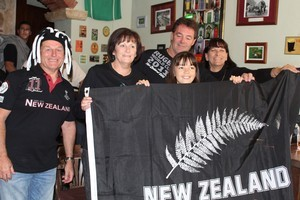 All Blacks fans watch the Rugby World Cup final in Split, Croatia. Photo / Charlotte Whale