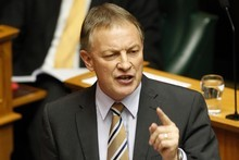 Labour leader Phil Goff followed up his comments on Radio New Zealand with a tweet claiming Prime Minister John Key did not have the &quot;guts&quot; to debate him. Photo / Mark Mitchell 