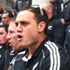 The All Blacks perform an impromptu haka for the crowd. Photo / Matthew Backhouse