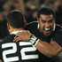 Sonny Bill Williams and Jerome Kaino celebrate the win over France. Photo / Getty Images