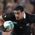Jerome Kaino tries to get through as he is tackled by a France player. Photo / Greg Bowker