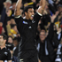 Jerome Kaino celebrates at the blow of the whistle. Photo / AP