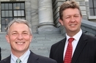Labour's Phil Goff (L) and David Cunliffe. Photo / Mark Mitchell