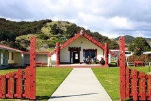 The entrance to Torere Marae. Photo / Jim Eagles