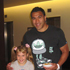 8-year-old Annaleise Nutbeam with Mils Muliaina. Photo / Rebecca Nutbeam