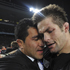 Mils Muliaina and All Black captain Richie McCaw share a moment. Photo / AP