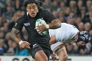 Ma'a Nonu in action against France during pool play. Photo / Paul Estcourt
