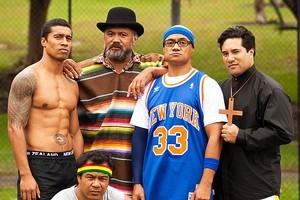 The cast of Sione's Wedding have reunited for a sequel. Photo / Supplied
