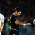    Stephen Donald of the All Blacks kicks the ball forward. Photo / Getty Images