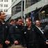 The All Blacks entourage makes its way through Wellington streets. Photo / Matthew Backhouse