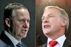 National's John Key (L) and Labour's Phil Goff. Photos / APN