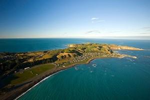 Aerial view of the Kaikoura coastline. Photo / Dean MacKenzie