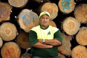 Mike Ruddell, 52, a logger for Kajavala Forestry in Kawerau, is positive about his working future. Photo / Alan Gibson