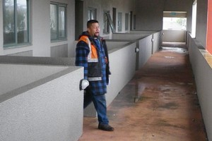 This man was photographed at the Pepperwood Mews, where workers posing as demolition men left the apartments badly damaged. Photo / Supplied