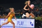 Silver Ferns captain Laura Langman and her team dominated the opening exchanges but couldn't counter the Australian onslaught in the second half. Photo / Getty Images