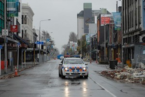 Christchurch residents will get the chance to enter the devastated central city for the first time since the February earthquake this weekend. Photo / APN