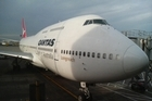 A grounded Qantas plane sits on the tarmac. Photo / supplied