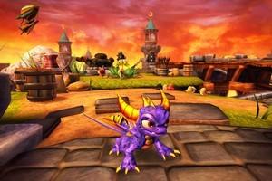 Spyro, the fire-breathing purple dragon, appears in new video game Skylanders: Spyro's Adventure. Photo / AP