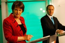 In 2008, neither Helen Clark nor John Key pulled back from their wildly optimistic election bribes before the votes were counted. Photo / Greg Bowker 