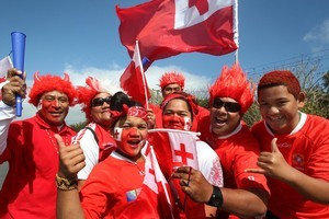 Tongan fans were a highlight of the Rugby World Cup. Photo / Brett Phibbs